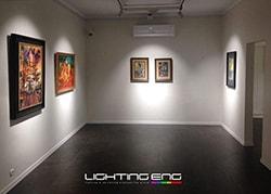 نورپردازی گالری هنری