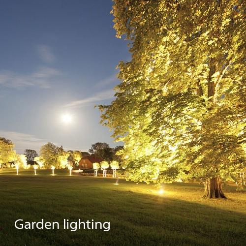 نورپردازی درختان | نورپردازی فضای سبز | نورپردازی محوظه