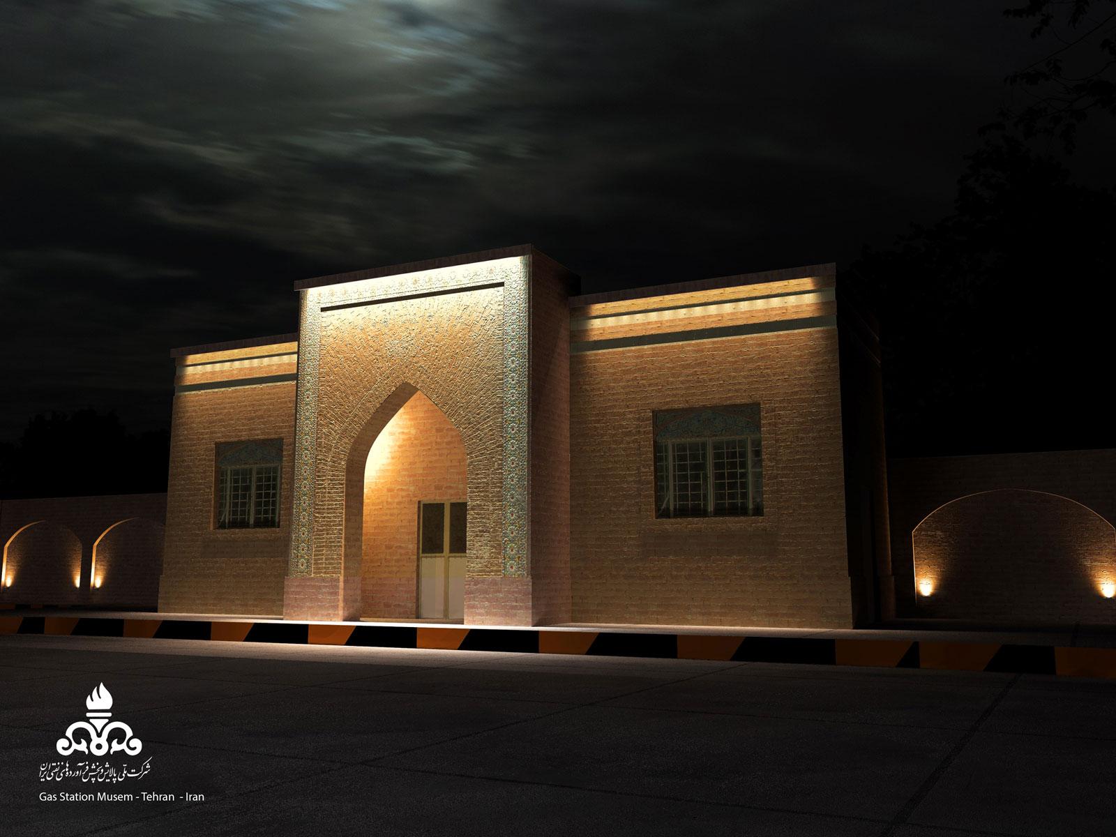 موزه ی پمپ بنزین   نورپردازی موزه   نور و معماری