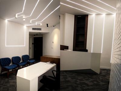 پروژه نورپردازی | طراحی نورپردازی | نورپردازی گالری | شرکت نورپردازی | چراغ ریلی | نورپردازی آتلیه پروژههای نورپردازی و روشنایی | چراغ خطی | نورخطی | چراغ خطی توکار