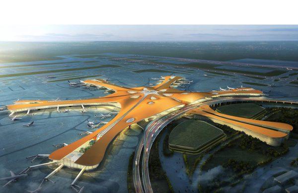 نورپردازی فرودگاه ۹ میلیارد پوندی پکن، چراغ سقفی، چراغ سقفی توکار، چراغ سقفی ال ای دی، چراغ سقفی سی او بی، نورپردازی